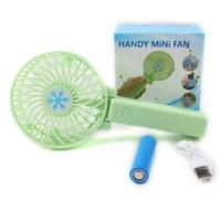 Wholesale Emergency Fan - Portable Mini USB Fan Handle Handheld Portable Fan Cool Cooler Multi-Function Hand Fans mini fan with USB free dhl with retail package