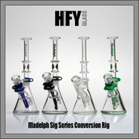 Wholesale Cheap Colored Glass - 7mm bongs Illadelph Concentrate water Pipes dab rigs Two Function beaker bong oil rig glass bubbler pipe heady colored cheap oil burner