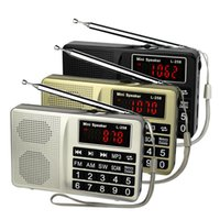 Wholesale-3 colori Radio portatile FM / AM / SW Radio Basso suono di musica MP3 Player Multimedia Mini Speaker Recorder Y4405