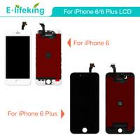 iphone lcd dhl großhandel-Für iPhone 6 Für iPhone 6 Plus Lcd Display Touchscreen Digitizer Vollständiger Baugruppenersatz mit Freies DHL 100% Keine toten