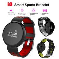 I8 Smartwatch Bluetooth Smart Watch Wasserdicht IP68 Pulsmesser Blutdruck Pedometer Sportuhr Mit Kleinpaket