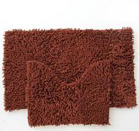 Wholesale Making Chenille - Wholesale- 2PCS  Set Chenille Bathroom Toilet Mat Anti-slip Bath Mat Free Shipping