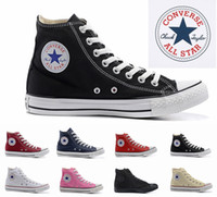 Wholesale Black Canvas High Top Sneakers - 2018 Converse Chuck Tay Lor All Star designer Canvas skateboard Shoes Mens Womens High Top Classic Converses Skate Casual Running Sneakers