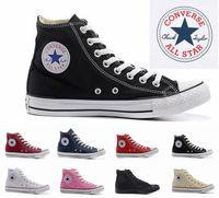 mens canvas high top spor ayakkabıları toptan satış-2018 Converse Chuck Tay Lor Tüm Yıldız tasarımcı Tuval kaykay Ayakkabı Mens Womens Yüksek Üst Klasik Converses Paten Casual Koşu Sneakers