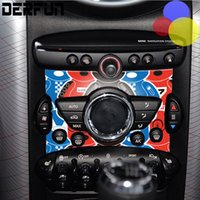 Wholesale Cooper Types - 4 types Car Internal Decoration Mini Cooper Control Panel Sticker For Mini Cooper Countryman Cabrio Works Coupe Paceman One Clubman