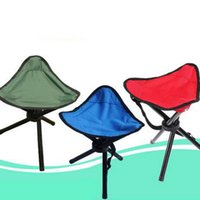 Atacado- 1Pc Outdoor Camping BBQ Tripod Folding Stool Chair Cadeira de pesca dobrável Chair Fishing Chair Ultralight Chairs