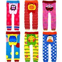 Wholesale Pp Pants Legging Cartoons - New Children PP pants spring autumn children cute pants hot cartoon pattern boy and girl busha PP pants ,72pcs lot