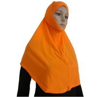Wholesale Amira Scarf - Wholesale- Two Piece Muslim Amira Islamic Head Scarf Hijab Women Shawl Wrap stylish