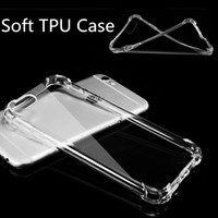 Wholesale Iphone Rubber Shell Case - For Samsung S8 Transparent Soft TPU Clear Case Rubber Silicone Cover Anti-shock Gel Protective Back Shell For iphone 7 6s For Samsung S7