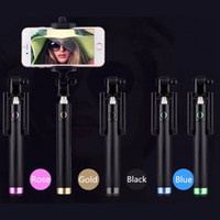 Wired Yes Carbon Fiber Selfie Stick Pocket Monopod Luxury Wired Selfie Handheld Extendable Monopod For iPhone 7 For Samsung Galaxy S7 200pcs lot
