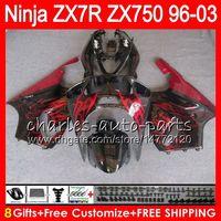 Wholesale kawasaki ninja online - 8Gifts Colors For KAWASAKI NINJA ZX7R TOP red black NO36 ZX750 ZX R ZX R Fairing