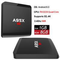A95X R1 Boîte de télévision Android Rockchip RK3229 Quad Core Streaming Media Player 4K 3D Android Set Top Box Wifi Smart Mini PC