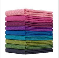 toalha de esteira de ioga antiderrapante venda por atacado-cobertores exercício yoga toalhas Anti deslizamento Yoga Mats exercício da aptidão Cobertores No Slip Mat Toalha Com Carrying malha saco