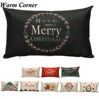 Wholesale Hospital Quality - Wholesale- 2017 New 1PC 30cm*50cm 9 Styles High Quality Christmas Pillow Case Shell Waist Cover Home Free Shipping Feb 6