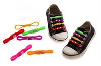 Wholesale Funky Shoes - Hot lazy custom shoe laces colorful elastic boot laces,18 colors no tie funky shoelaces