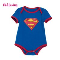 Wholesale Winter Bodysuits For Babies - Infant Boys Girls Rompers Cotton Clothes Unisex Baby Costumes for Birthday Gift Newborn Short Sleeve Blue Cotton Jumpsuit BodySuits 0-2year