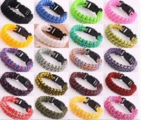 300pcs 2017 новых цветов смешивания вы выбираете Self-rescue Paracord Parachute Cord Bracelets Survival bracelet Camping Travel Kit