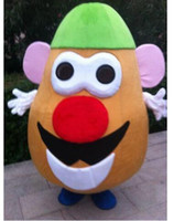 Wholesale Cartoon Head Costume - 2017 New Adult size Mr. Potato Head Mascot Cartoon Costume Toy Story Outfit EPE