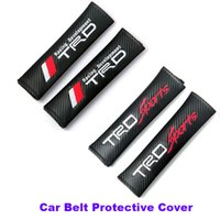 Wholesale Yaris Cover Seat - Best Match belts 2pcs Car Seat Safety Belt Cover Belts Padding Cover for toyota corolla camry avensis rav4 yaris emblem belts