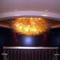 ingrosso murano plafoniere-Plafoniere di lusso Luci a LED Plafoniere in vetro di Murano Illuminazione interna in cristallo dorato Lampade da cucina
