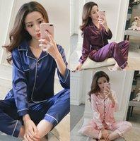 Wholesale Cheap Black Nightgowns - Cheap Soft Elastic Silk like Satin Two Piece Wedding Nightgown Navy Blue Free Shipping Long Sleeve Wedding Bridal Sleep Dress