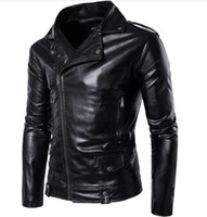 Wholesale Winter Leather Aviator Jacket - High Quality BIG SIZE M-4XL Mens Leather Aviator Jacket Name Brand Winter Style England Style Winter Mens Leather Jackets China Cheap