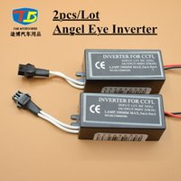 Wholesale Wholesale Halo Rings - 2pcs Lot,12V CCFL inverter Angel Eyes Halo Rings Driver Blocks Power Replacement Spare Universal Male Plug