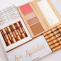 Wholesale Eyeshadow Lipgloss Palette - 2017 KOKO Kollection 2 Eyeshadow Lipgloss Kit In Love With koko Kylie Eye Shadow Liquid Lipstick Palette Kylie Cosmetic Free DHL