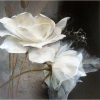 Venta Al Por Mayor De Cuadros De Flores Blancas Negras Comprar