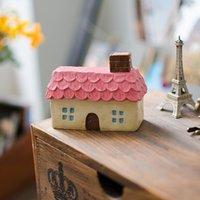 Wholesale Diy House Model - House Ornaments Resin Outdoor Decor Miniature Artificial Design DIY Vintage Decor Accessories Model For Vintage Decor