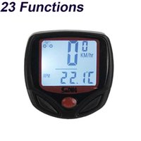 Wholesale Wiring Accessories Functions - 23 Functions Sunding Waterproof Wired Bike Computer Digital LCD Backlight Bicycle Speedometer Odometer Bike Accessories SD-546AE