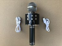 Wholesale Handheld Speakers - WS-858 Wireless Speaker Microphone Portable Karaoke Hifi Bluetooth Player WS858 For iphone 6 6s 7 ipad Samsung Tablets PC better than Q7 Q9