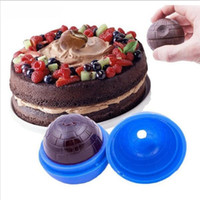 Wholesale Ball Maker Mould - Hot Creative Silicone Blue Wars Death Star Round Ball Ice Cube Mold Tray Desert Sphere Mould DIY.