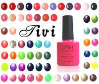 Wholesale Led 156 - Wholesale- Tivi 10ml Nail Gel Long Lasting Gel Lacquers 156 Colors DIY Nail Gel Polish UV LED Lamp Curing Pick 1pcs
