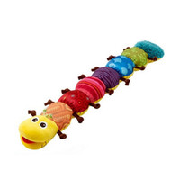 Wholesale caterpillars baby toys - Kid Plush Toy Singing Multi Function Caterpillar Height Scale Puzzle Baby Toys Educational Music Rattles Funny Gift Hot 14jb F