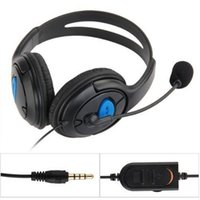 Wholesale Chat Mic - RV77 Wired Gaming Chat Stereo Bass Dual Ear Cup Headset headphone earphone with Microphone boom MIC for Sony PlayStation 4 PS4