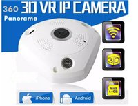 Wholesale Wholesale Cctv Systems Hd - Newest 360 Degree Panorama VR Camera HD 1080P  3MP Wireless WIFI IP Camera Home Security Surveillance System Hidden Webcam CCTV P2P