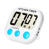 Temporizadores de cozinha digital Digital LED Display Volume Ajustável Back Strong Magnetic Automatic Shutdown Timer Reminder Multicolor