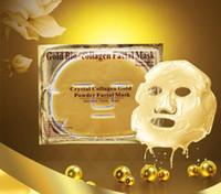 Wholesale powder masks resale online - Gold Bio collagen Face Mask Crystal Collagen Gold Powder Facial Mask Moisturizing Whitening Anti aging Masks Peels Face Skin Care by DHL
