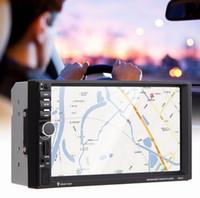 "Wholesale Dvd Car Headrest Inch - 7"" Inch 2Din HD Car Radio MP5 Player Digital Touch Screen Bluetooth Handsfree USB TF FM DVR Aux Input Support Car Charge GPS"