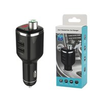 Wholesale iphone detection - New BC23 Car Mp3 Kit FM Transmitting Mufti-function Car Charger Support U-disk Voltage Detection Bluetooth Handsfree for mobile
