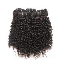 "Wholesale Human Hair Curls Sales - Top Deep Curl Indian Virgin Hair Weaving 3Pcs Lot Indian Curly Virgin Hair 12""-30"" Human Hair For Sale Free Shipping"