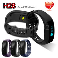 Wholesale Touch Screen Wrist Band Watch - H28 Smart Band Heart Rate Smartband Watch Bluetooth Wristband Bracelet Smartwatch Touch OLED Screen Fitness Monitor Call Reminder Anti-lost