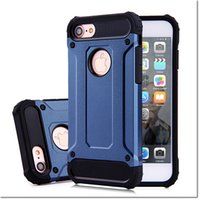 Wholesale Quality Moto - high quality armor TPU+pc 2 in 1 hybrid case shockproof hard back cover with 10 colors for iphone samsung LG moto huawei dhl free