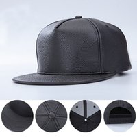4ac8812fb0c Wholesale leather blanks online - Adjustable DIY Blank PU Hats Hip Hop  Snapback Baseball Caps Hiphop