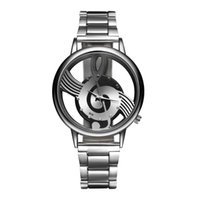 Wholesale Music Steel - atches Quartz Wristwatches 2017 New Luxury Brand Fashion and Casual Music Note Notation Watch Stainless Steel Wristwatch for Men and Wome...