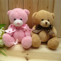Wholesale Christmas Mixed Teddy Bear - Stuffed Animals Stuffed Animals Hot sale 8pcs lot mixed color 15cm lovely teddy bear,small bear for children gift,Promotion Gifts