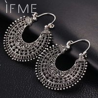 Wholesale love dangle earrings - 2016 New Vintage Silver Plated Earrings For Women Style Accessories Dangle Earrings Mujer Jewelry Retro Aros Long Love Brinco
