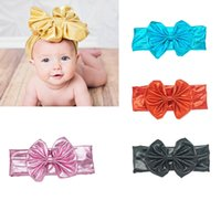 Wholesale Head Pc For Baby - 7 Pcs lot baby Turban Head Wrap Newborn Girls Headband Super Soft and Stretchy Headbands for Newborn and Baby Girls
