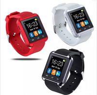 smartwatch für s5 großhandel-U8 Bluetooth Smart Watch Armbanduhr Smartwatch für iPhone Samsung S4 S5 Hinweis 2 Hinweis 3 HTC Android Phone Smartphones